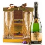 Champagne and Godiva Truffles